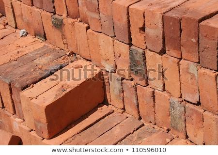 серый · конкретные · кирпича · строительство · кирпичных - Сток-фото © rhamm