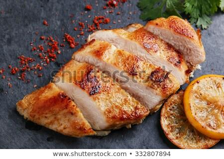 куриные приготовленный овощей продовольствие древесины фон Сток-фото © M-studio