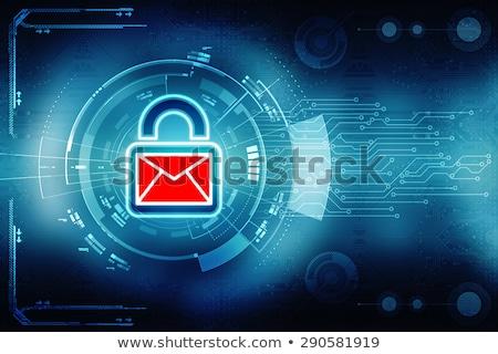 Sicher E-Mail Umschlag Symbol Sperre Sicherheit Stock foto © devon