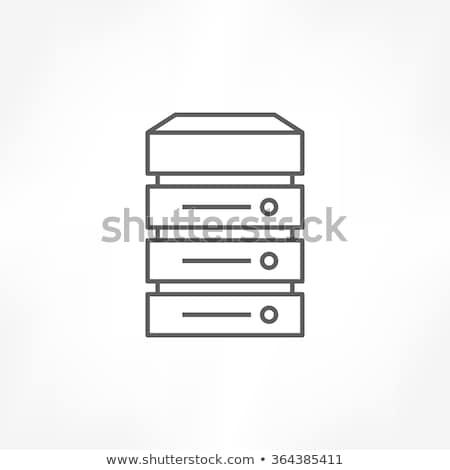Server Icons -- Outline Button Stock photo © Palsur