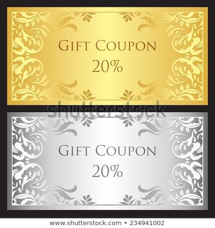 金 銀 ギフト クーポン ダマスク織 飾り ストックフォト © liliwhite