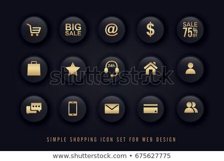 SEO Gold Vector Icon Button Stock photo © rizwanali3d
