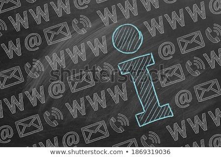 E-Mail Anschrift Zeichen Tafel weiß Kreide Stock foto © PixelsAway