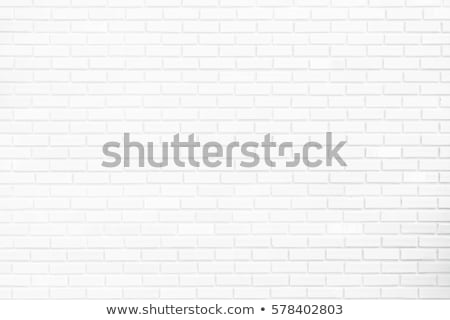 Room interior with white brick wall and wood floor Stock photo © stevanovicigor