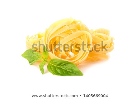 some raw penne rigate with basil Stock photo © Rob_Stark