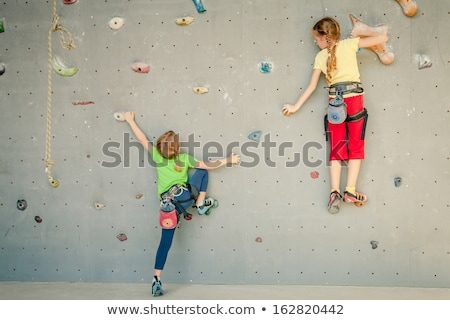 Wall climbing kids Stock photo © sahua