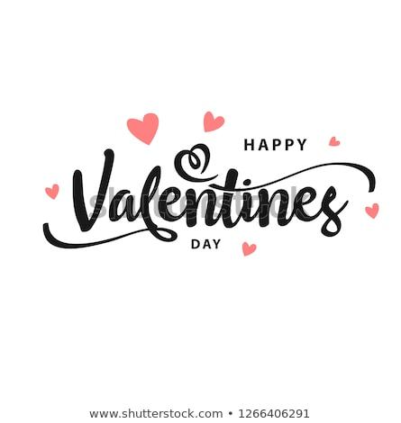 Vektor Valentin nap embléma kép konzerv egyszerűen Stock fotó © Mr_Vector