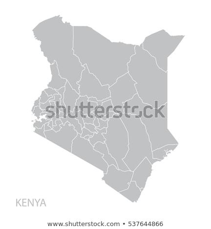 Térkép Kenya utazás fekete vektor izolált Stock fotó © rbiedermann