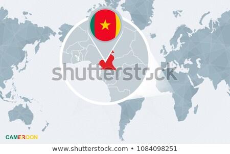 Camarões bandeira mapa país forma Foto stock © tony4urban