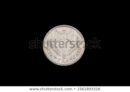 Two Fascist coins on a Black Background. Stock photo © tashatuvango