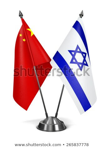 China and Israel - Miniature Flags. Stock photo © tashatuvango