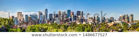Panorama calgary wolkenkrabber centrum kantoorgebouw Stockfoto © benkrut