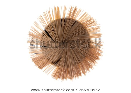 Dried organic spaghetti fanned in a pot Stock photo © ozgur