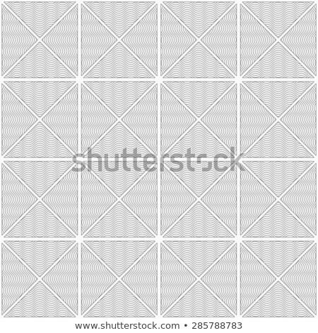 mince · gris · rayé · ondulés · géométrique - photo stock © zebra-finch