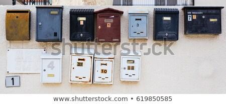 starych · kilka · drzwi · malowany · niebieski - zdjęcia stock © amok