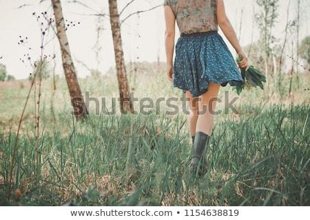 Woman Walking Through Countryside Stock photo © stevanovicigor