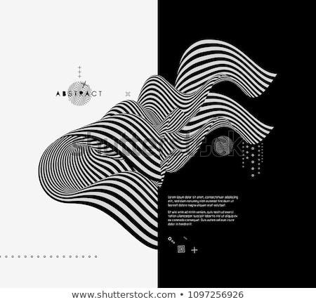 preto · e · branco · arte · vetor · quadro · abstrato - foto stock © shawlinmohd