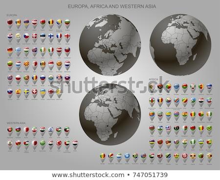 Turquia Iémen bandeiras quebra-cabeça isolado branco Foto stock © Istanbul2009