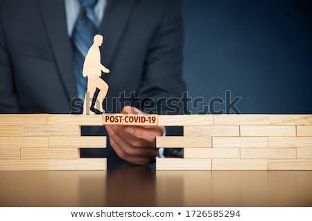 Helpen post-it zakenman hand business papier Stockfoto © fuzzbones0