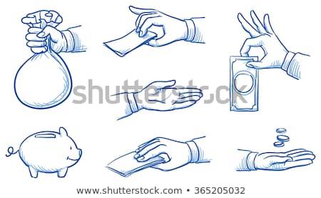 mão · dinheiro · ilustração · agarrando · apertado - foto stock © netkov1
