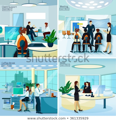 Composite image of business people supporting boss Stock photo © wavebreak_media