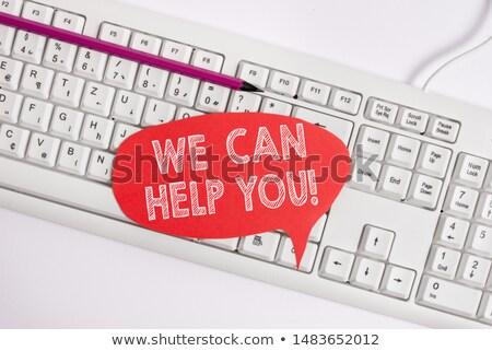 Ajudar mensagem papel verde fundo assinar Foto stock © fuzzbones0