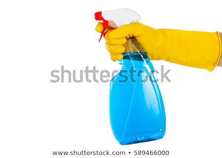 Stock photo: Colorful Cleaning Bottles Isolated on White