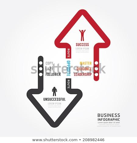 Up Down Arrow Red Vector Icon Design Stock photo © rizwanali3d