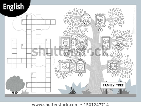 family on crossword stock photo © fuzzbones0