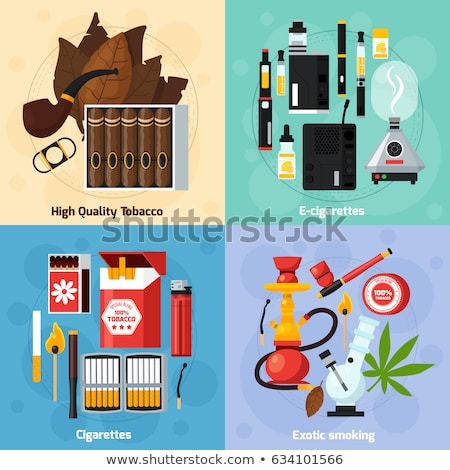 vector flat usual cigarette illustration icon stock photo © trikona