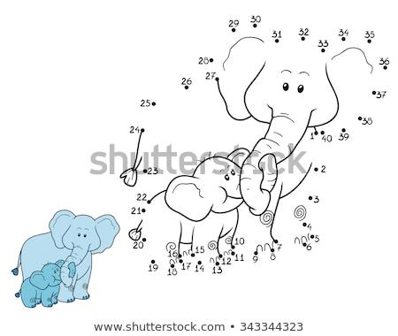 Pontozott elefánt terv nyomtatott minta kör Stock fotó © gladiolus