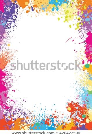 Splatter Boarder Stockfoto © wikki