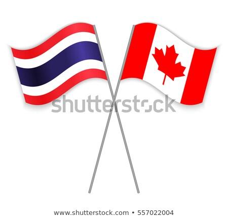 Canadá Tailândia bandeiras quebra-cabeça isolado branco Foto stock © Istanbul2009