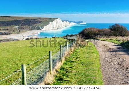 hét · nővérek · sziklák · dél · Sussex · égbolt - stock fotó © chris2766