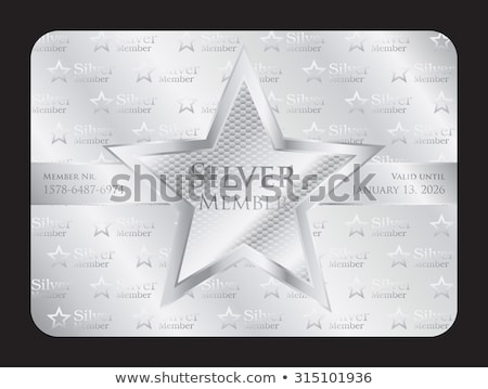 Silver member club card with big star Stock photo © liliwhite