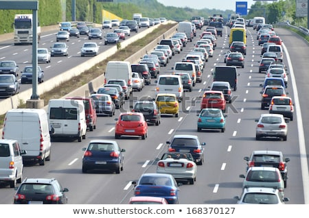 cars in traffic jam on highway in germany stock photo © vladacanon