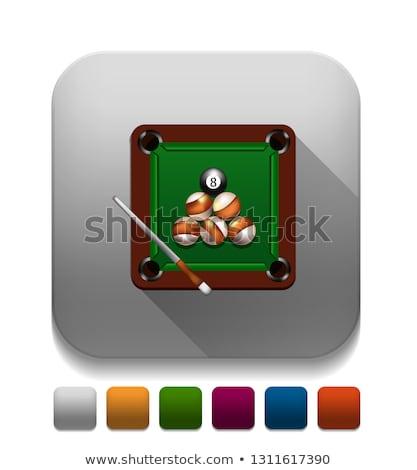 Biliárd játék mező golyók 3d illusztráció háttér Stock fotó © make