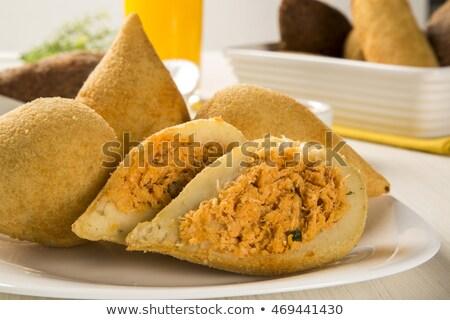 Brazilian deep fried chicken snack, popular at local parties.  Stock photo © paulovilela