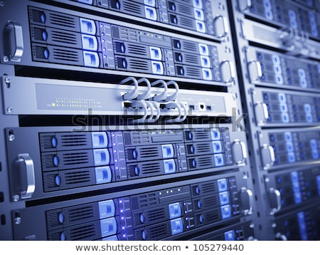 Futuristic Tower Server Rack Stock photo © Vectorminator