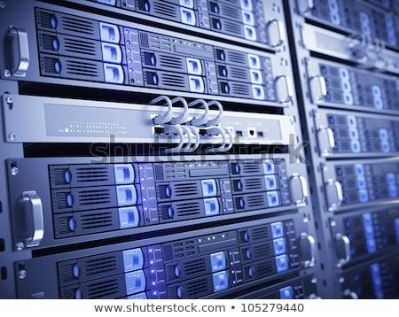 футуристический башни серверную стойку большой размер изометрический Сток-фото © Vectorminator