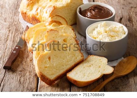 Dulce levadura estaño alimentos desayuno Foto stock © Digifoodstock