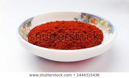Foto stock: Terreno · vermelho · pimenta · cerâmico · colher · pimenta