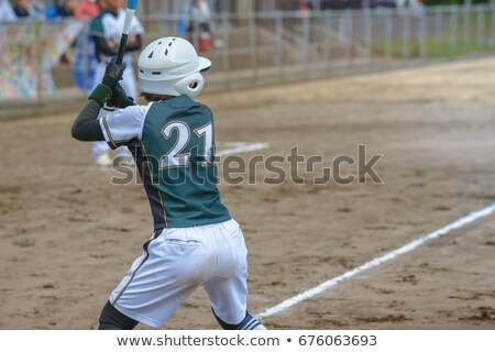 Woman athlete playing softball Stock photo © bluering