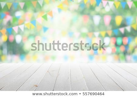 Yaz parti örnek avuç içi mavi gökyüzü Stok fotoğraf © derocz