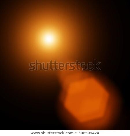 Słońce migotać świetle czarny ekranu warstwa Zdjęcia stock © photocreo