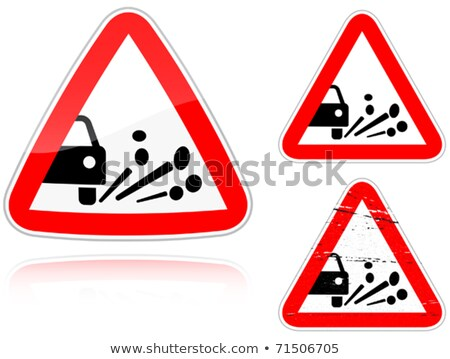 Variants a Blowout of gravel - road sign Stock photo © boroda