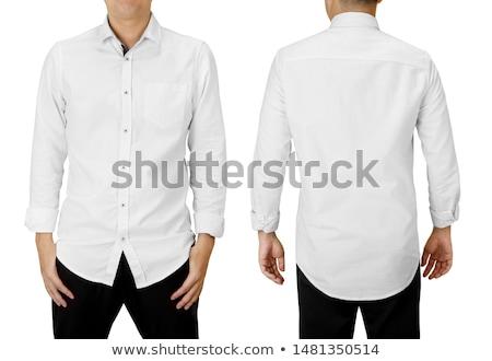 серьезный человека белый длинный рукав рубашку фото Сток-фото © sumners