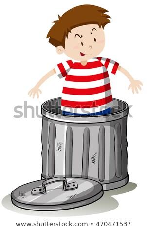 Boy in trashcan alone Stock photo © bluering