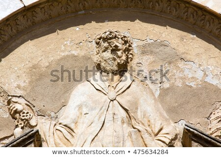 Relief on the Church of San Pietro in Volterra Stock photo © Digifoodstock