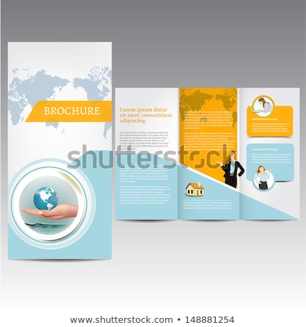 Commerce mondial brochure bureau fond terre éducation Photo stock © rioillustrator
